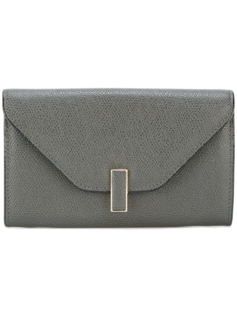 Valextra Iside Small Grained Wallet - Grey