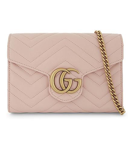 Gucci Gg Marmont MatelassÉ Mini Bag In Pink