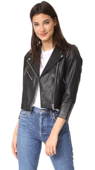 Madewell Ultimate Leather Jacket In Pale Cement