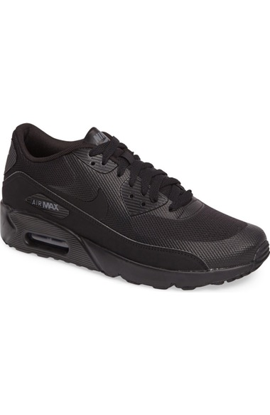 Nike Men's Air Max 90 Ultra 2.0 Essential Running Sneakers From Finish Line In Black/ Black/ Black