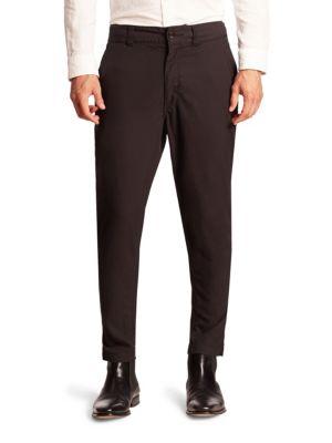 Issey Miyake Gabardine Jodhpur Style Pant In Black