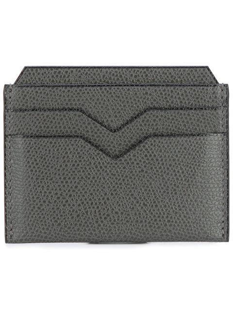 Valextra Grey 4Cc Card Holder