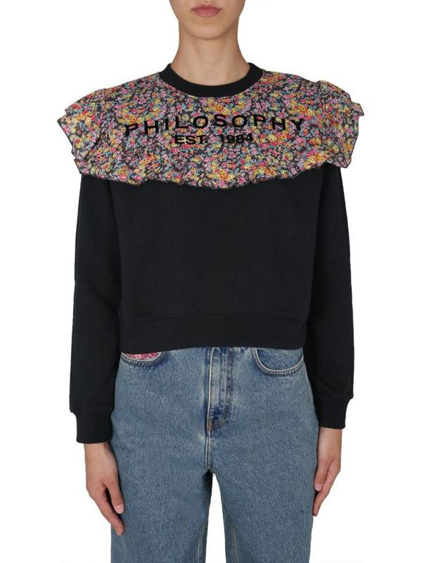 Philosophy Women's Black Sweatshirt