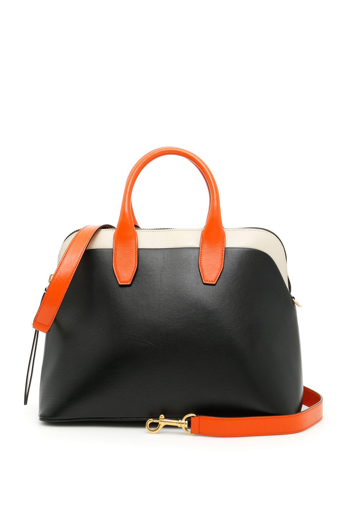 Mulberry Colville Bag In Black Brorange Chalkarancio