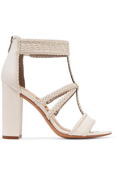 Sam Edelman Woman Yordana Woven Leather Sandals White In Bright White Weave Leather