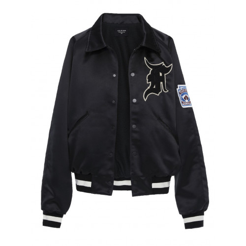 Fear Of God Fifth Collection Manuel Satin Bomber Jacket In Black