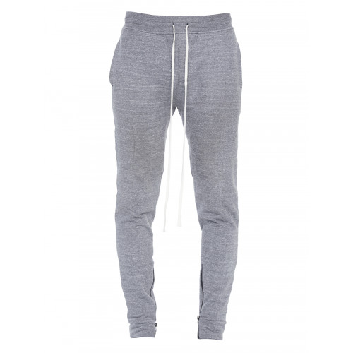 Fear Of God Zip-Cuff Cotton-Blend Track Pants In Grey