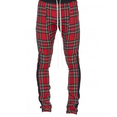 Fear Of God Slim-Fit Tapered Checked Wool Drawstring Trousers In Red Plaid