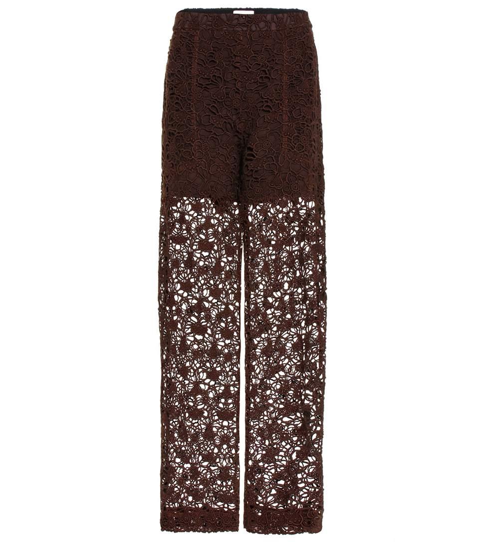 ChloÉ Floral Lace Straight Leg Pants