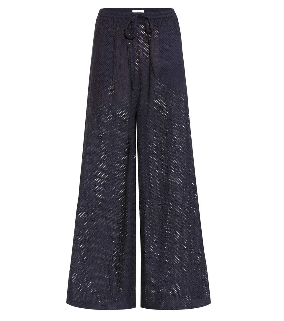 Marysia Montauk Cotton Trousers In Blue