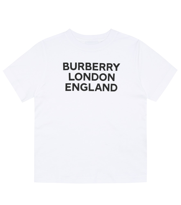 Burberry Kids' Logo Printed Cotton Jersey T-shirt In White