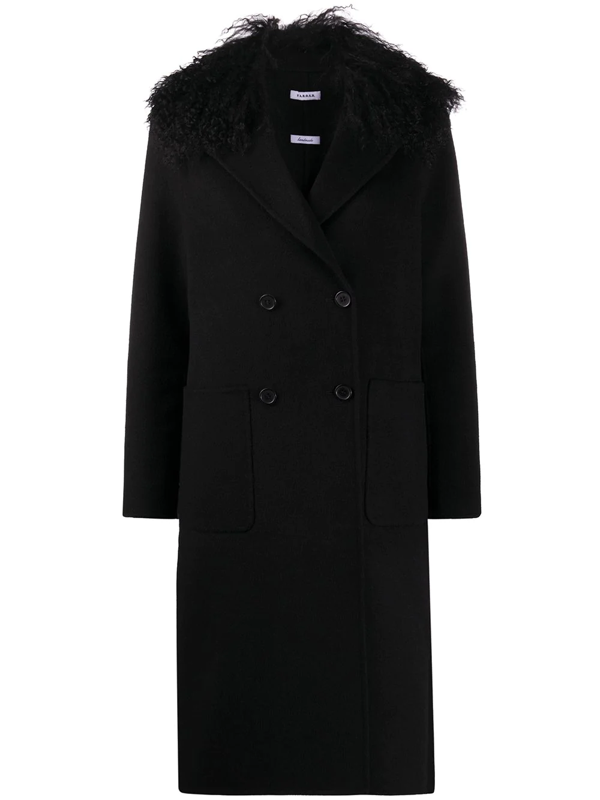 P.a.r.o.s.h. Leak Double-breasted Midi Coat In Black