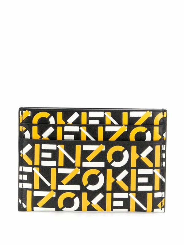 Kenzo Logo Embossed Cardholder In Black
