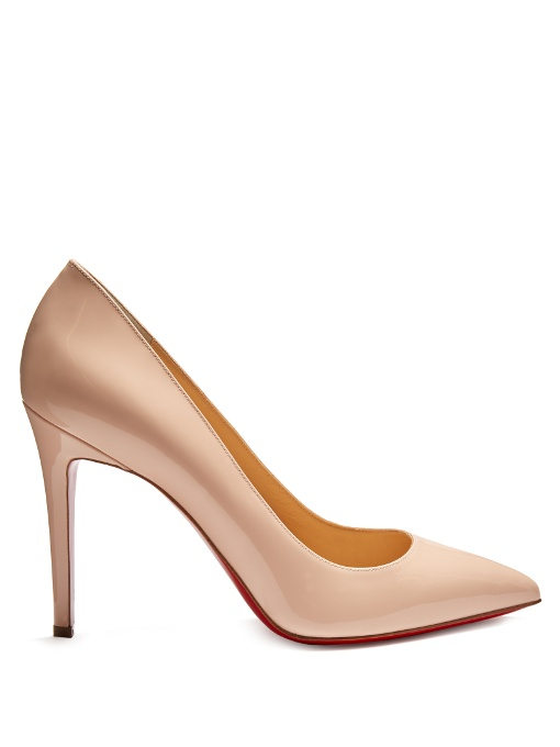 Christian Louboutin Pigalle 100 Patent-Leather Pumps In Light Pink