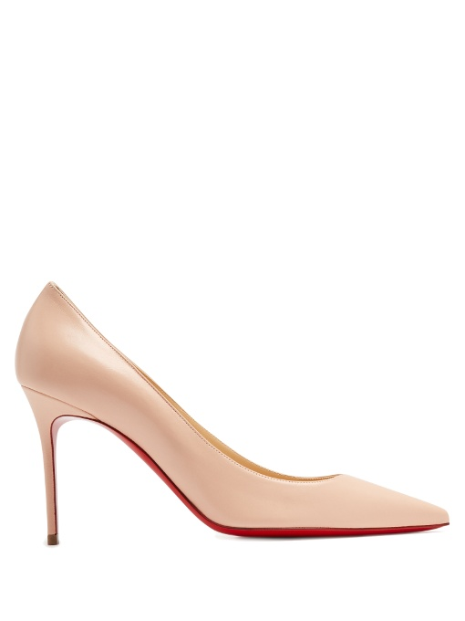 Christian Louboutin Decollete 100 Leather Pumps In Nude-Pink
