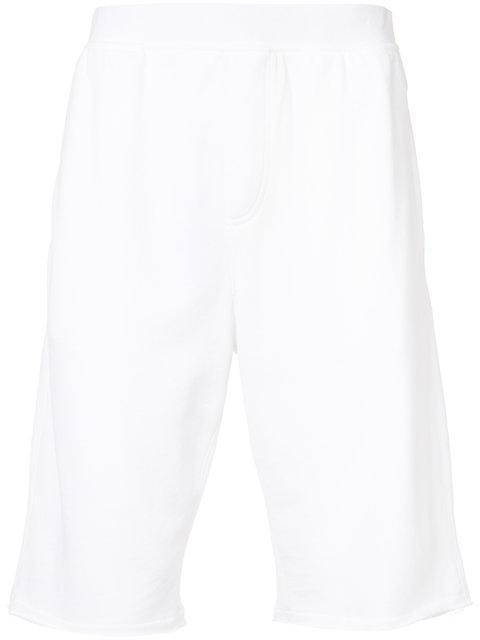 Atm Anthony Thomas Melillo Raw Hem French Terry Pull-On Shorts
