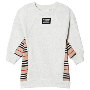 Burberry Kids' Wanda Icon Stripe Panel Sweatshirt In Grey