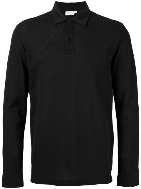 Sunspel Polo Shirt In Dark Blue