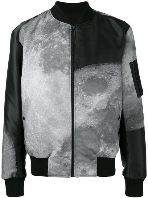 Christopher Raeburn Moon Print Reversible Bomber Jacket - Black