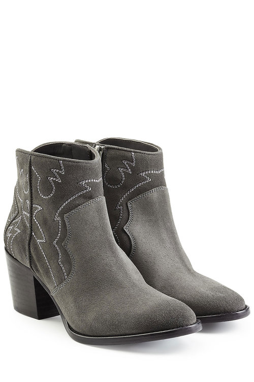 Zadig & Voltaire Suede Ankle Boots In Grey