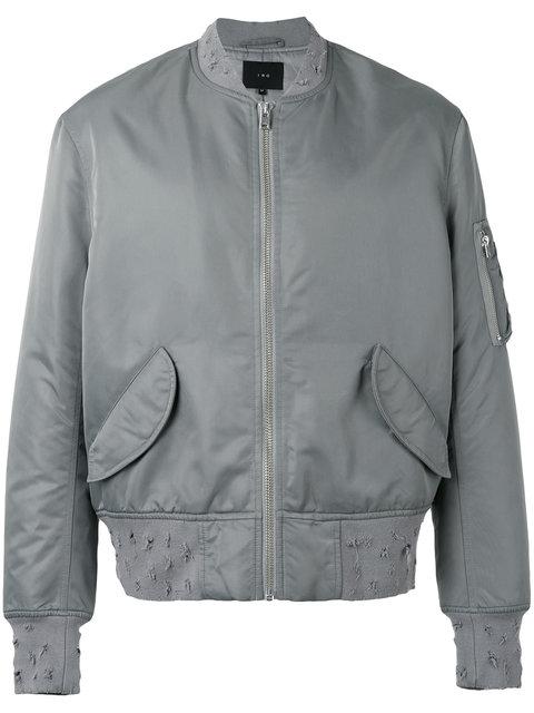 Iro Almeo Bomber Jacket In Dark Grey
