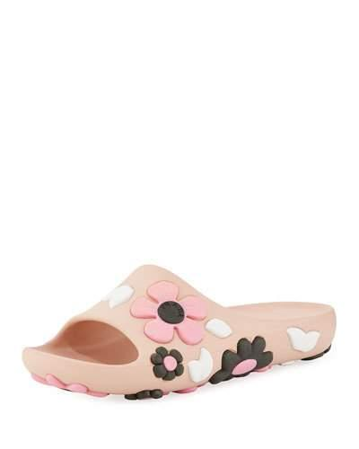 Prada Rubber Flower Slide Sandal In Pink