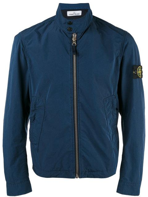Stone Island Banded Collar Cropped Jacket