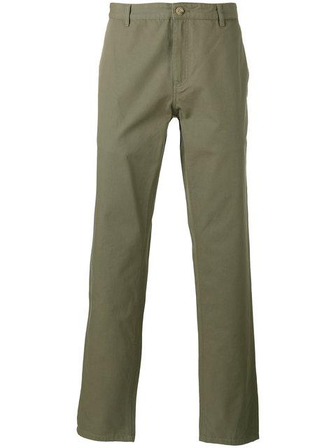 A.P.C. Regular-Fit Tapered Cotton Chinos In Green