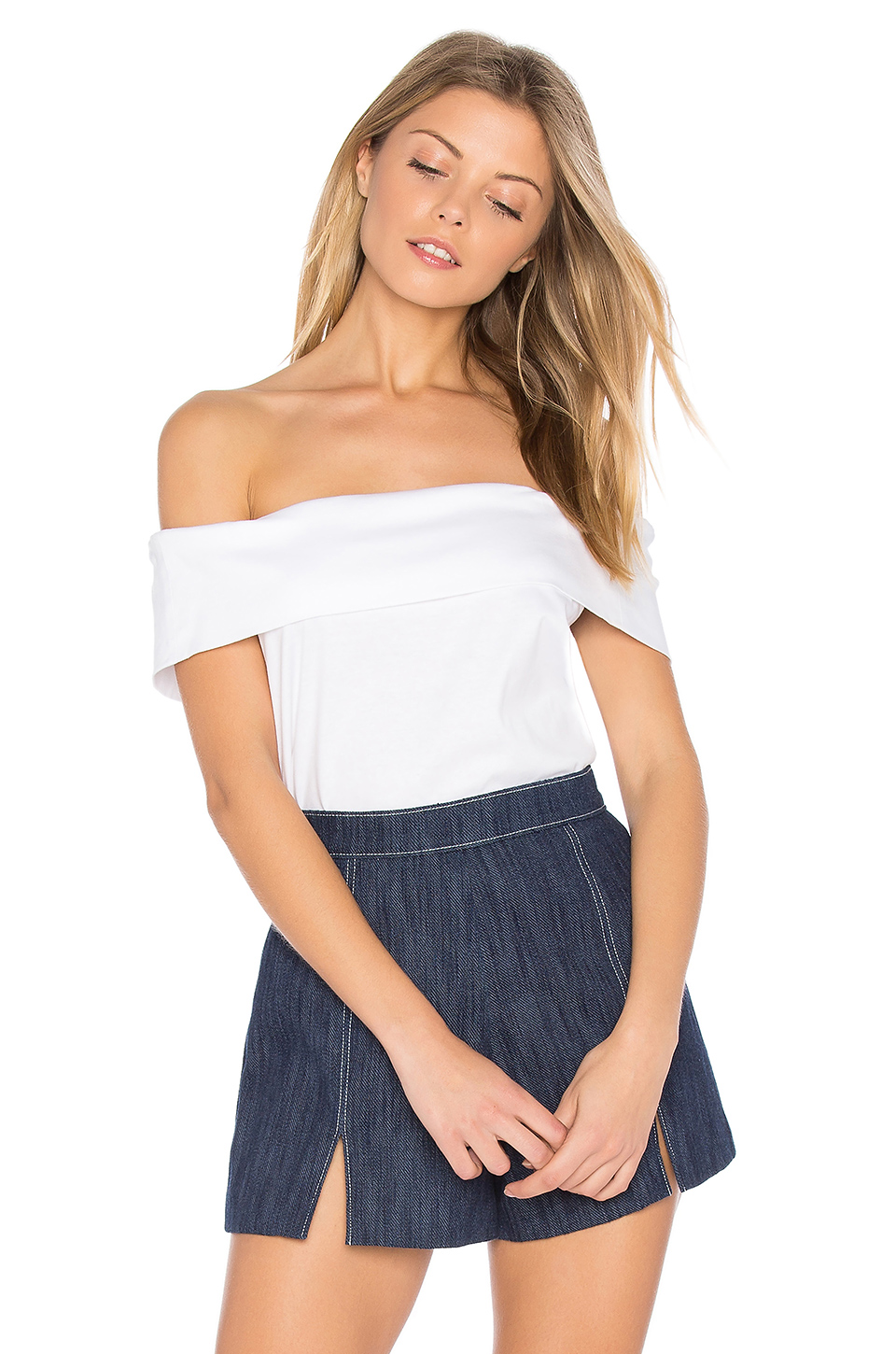 Tibi Off The Shoulder Top In White