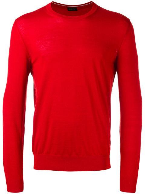 Z Zegna Z-Zegna Classic Sweater In Red