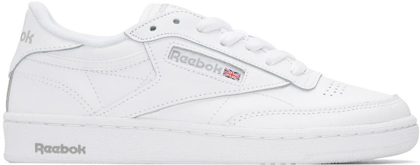 Reebok Men's Classic Club Leather Lace Up Sneakers In White