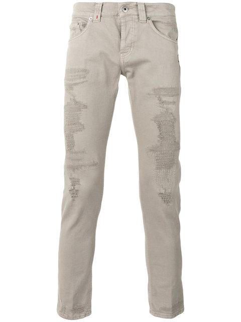 Dondup Distressed Skinny Jeans - Grey