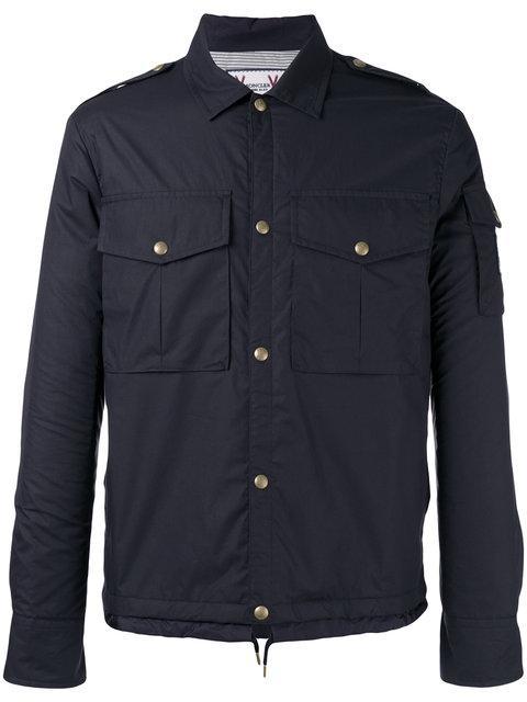 Moncler Gamme Bleu Blue Snap Button Jacket