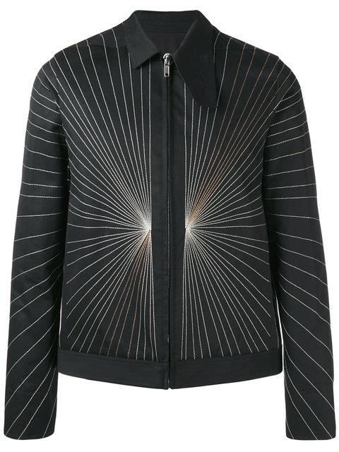 Rick Owens Embroidered Explosion Bomber Jacket In Black
