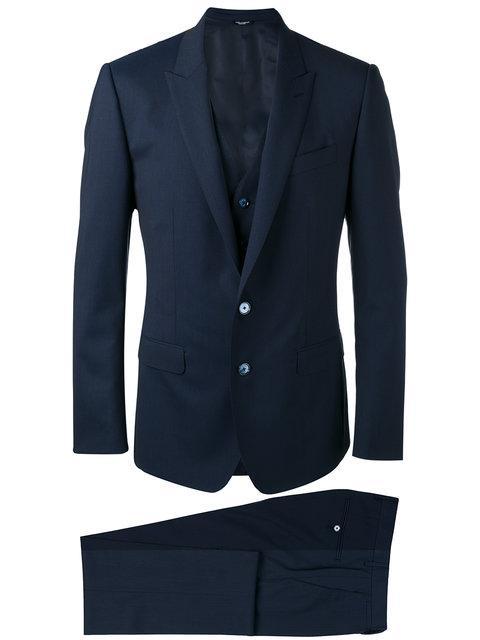 Dolce & Gabbana Formal Three-Piece Suit - Blue