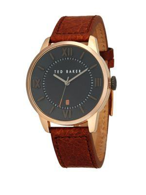 Dolce & Gabbana Stainless Steel & Leather Strap Analog Watch In Brown