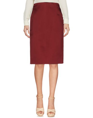 Valentino Knee Length Skirt In Maroon