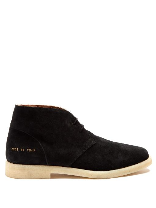 Common Projects Suede Chukka Boots In Black