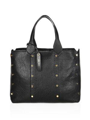Jimmy Choo Lockett Leather Shopper - Black