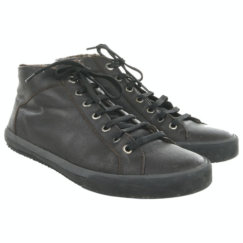 Pre-owned Z Zegna Brown Leather Lace Ups