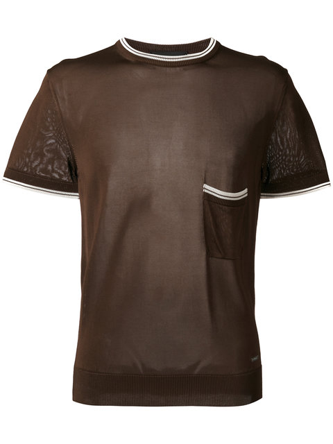 Dsquared2 Short Sleeve Knit In Brown