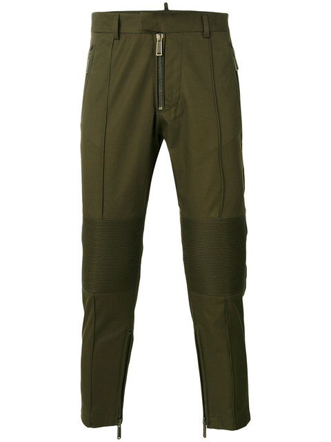 Dsquared2 Cropped Cargo Trousers In 695