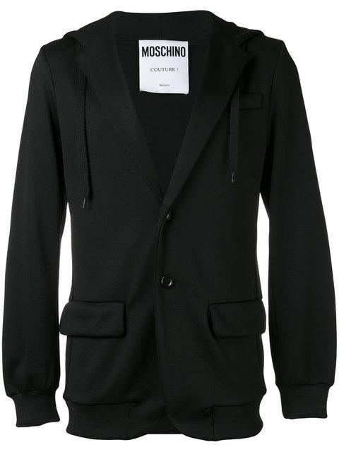Moschino Hooded Logo Blazer