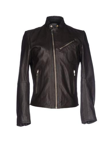 Diesel Biker Jacket In Dark Brown