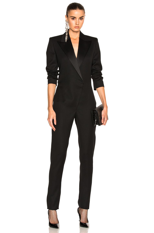 Saint Laurent Cashmere And Silk Jumpsuit In Black