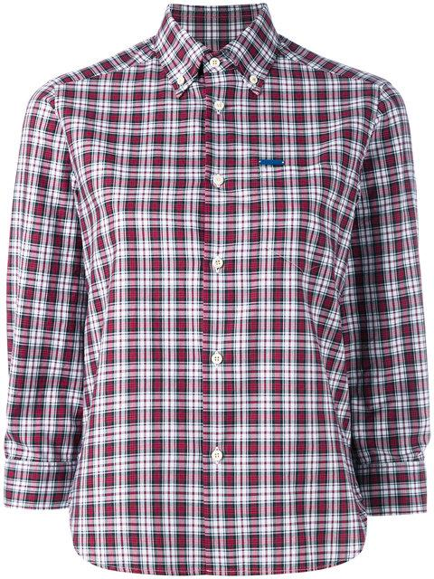 Dsquared2 Cropped Sleeve Plaid Shirt - Multicolour