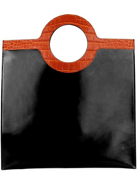 Givenchy Eclipse Glazed Leather Tote Bag, Black/Brown