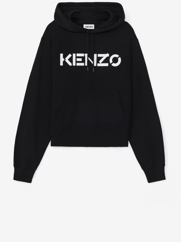 Kenzo Logo Print Hoodie Colour: Black