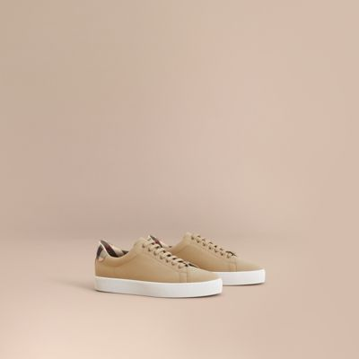 Burberry Westford Low Top Lace Up Sneakers In Honey
