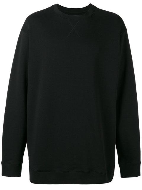 Raf Simons Back Lettering Print Sweatshirt In Black